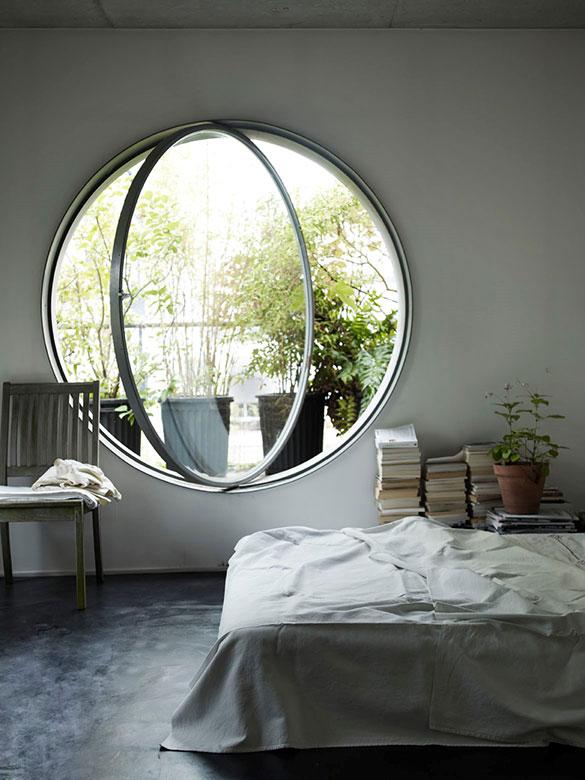 بازشوی محوری، مناسب برای پنجرههای دایرهای